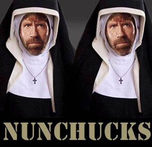 No!  I said Church History not Chuck Norris